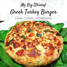 Greek Turkey Burgers, Ground Turkey Burgers, Greek Burger, Big Burgers, Ground Turkey Recipes, Turkey Burger Recipes, Ground Chicken Recipes, Lean Protein Meals, Lean Meals