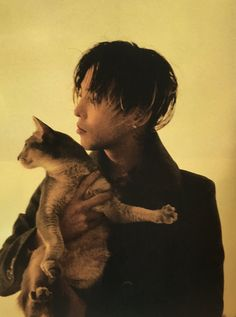 GD with his cute kitty.