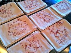 gifts of embroidered dish towels - Google Search