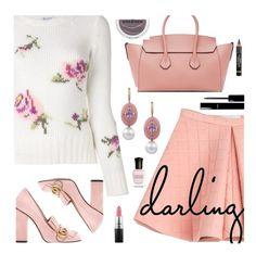 """Pink Fall"" by deborah-calton ❤ liked on Polyvore featuring Dondup, Marina Hoermanseder, Gucci, Bally, MAC Cosmetics, Chanel, Essence, Deborah Lippmann and L'Oréal Paris"