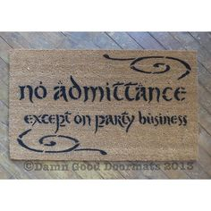 LOTR Bilbo Welcome to Bag End doormat geek by DamnGoodDoormats