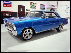 66 Chevy nova. Love that blue