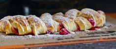 Puff Pastry Cherry Braid (Use vegan butter.)