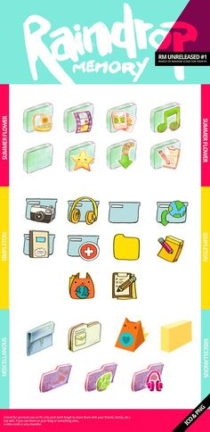 RM Unreleased Icons 1 by ~Raindropmemory on deviantART