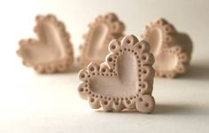 Clay Stamp Love Heart Lace Scalloped Small Tool for Ceramics Fondant Polyclay