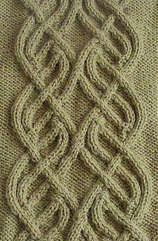 Aran inspired flowy cable stitch.