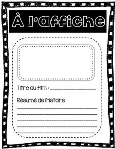 Writing Resources, Teaching Writing, Writing Activities, Teaching Tools, Core French, French Classroom, Writers Notebook, Future Jobs, Teaching French