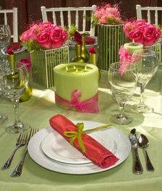 pink and green wedding!