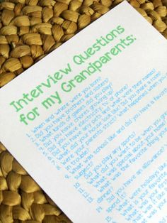 Grandparent Interview Questions | Do your children know the life stories of their grandparents? Let this printable and post encourage you to...