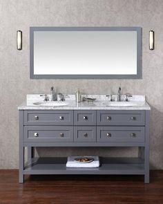"Stufurhome HD-6868G-60-CR Marla Double Sink Bathroom Vanity Set, 60"": Amazon.ca: Tools & Home Improvement"