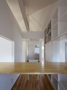 """This renovation project is a recent undertaking by Tokyo-based firm, htmn. Dubbed, """"Suspensions of Space,"""" this project was a redesign of the upper floor of a house constructed with the two by four method."""