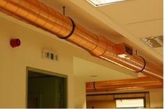 Ufficio a Marousi, Atene. Il rame può abbattere i batteri che si depositano all'interno delle condotte d'aria.