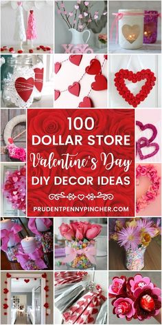 Decorate for less with these dollar store Valentine's Day decorations. From vale. Decorate for less with these dollar store Valentine's Day decorations. From valentine's day wre diy dollar store Valentines Decoration, Diy Valentines Day Wreath, Valentine Tree, Valentines Day Party, Valentine Day Crafts, Holiday Crafts, Ideas For Valentines Day, Homemade Valentines, Printable Valentine