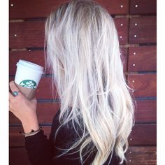 sister Linds got her hair done for fall! icy blonde