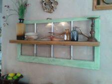 Window and Plank WOOD hanging WALL SHELF knickknack DISPLAY Barn/Cabin Antique
