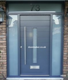 DREAM DOOR ! -  grey contemporary door and frame