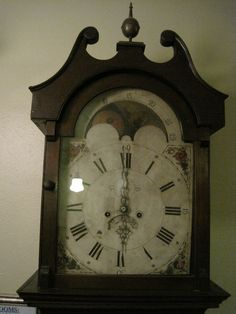 the case clock i want. this one is located in the occidental hotel, buffalo, wyoming. Antique Mantel Clocks, Vintage Clocks, Buffalo Wyoming, Occidental Hotel, Cool Clocks, Grandfather Clock, Roman Numerals, Radios, Faces