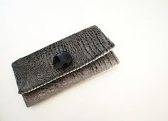 Grey Elephant Fabric Trifold Clutch with Large by Singsthesparrow, $42.00