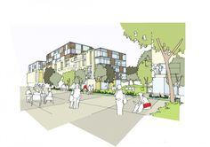 Sheppard Robson has been appointed by Clyde Gateway to act as lead consultant on the urban regeneration of the South Dalmarnock area of Glasgow. Infrastructure Architecture, Landscape Architecture Design, Architecture Graphics, Landscape Plans, Concept Architecture, Urban Landscape, Architecture Details, Urban Design Concept, City Sketch