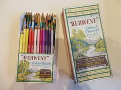 Vintage Derwent coloured pencils series No 19 - 1930's? made in England