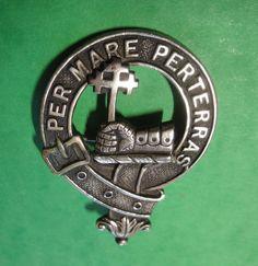 Vintage Clan Badge MacDonald Clan PER MARE PERTERRAS Made In Gr. Britain