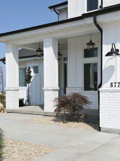 Modern farmhouse exterior porch