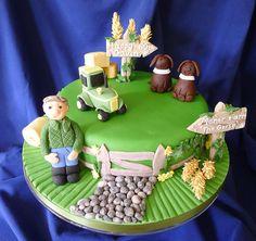 Birthday Cake Farmer 44 Ideas For 2020 Farmer Birthday Cake, 50th Birthday Cakes For Men, Happy Birthday Nephew, Birthday Ideas, Cupcakes For Men, Dad Cake, Birthday Cartoon, Homemade Cakes, Cupcake Cakes