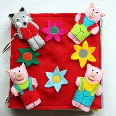 Soft Quiet Felt Book Three little pigs