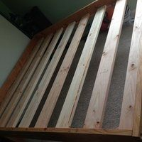 2 X 8 Bed: 5 Steps (with Pictures) Making A Bed Frame, Diy Bed Frame, Diy Platform Bed Plans, Basic Tools, How To Make Bed, Wood, Projects, Pictures, Ideas