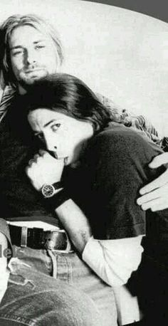 It's okay for men to be vulnerable. (search: Rock Star Dave Grohl Kurt Cobain Sexy Men Comedians Nirvana Foo Fighters Recovery Kurt (looks so peaceful) & Dave. Dave Grohl, Scott Weiland, Eddie Vedder, Music Is Life, My Music, Indie Music, Music Rock, Nirvana Kurt Cobain, Kirk Cobain