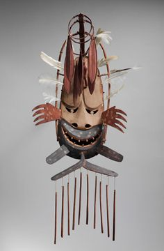 Lesson Plan: Engaging the Elements | Engage students' interest in the relationships between the human and natural worlds, and art and the environment through a mask-making activity and viewing questions for the classroom about a mask from Alaska in the Museum's Native North American collection. #Teachers #Education #Art