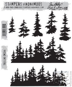 Stampers Anonymous Tim Holtz Collection Tree Line CMS244 by PNWCrafts on Etsy