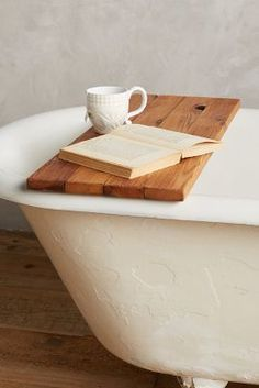 Is it that time of day yet where it's acceptable to just sit in a bubble bath with a good book and some tea? We need this Anthropologie Peg & Awl Vestige Bathtub Caddy from ShopStyle!