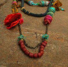 Collier ethnique, collier, collier africain, collier naturel, respectueux de l