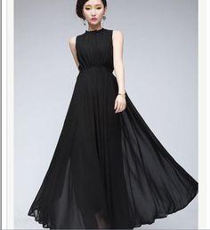 vestido preto em chiffon - Pesquisa Google