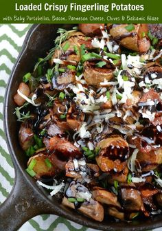 Crispy Fingerling Potatoes With Caramelized Onions Mushrooms and Bacon ...
