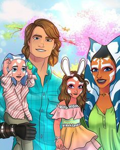 Happy super super late easter sorry bout that but hey, Anisoka😂😂 (credit if reposted) Star Wars Padme, Star Wars Comics, Star Wars Fan Art, Star Wars Ships, Star Wars Rebels, Star Wars Clone Wars, Star Wars Humor, Best Star Wars Characters, Star Wars Species