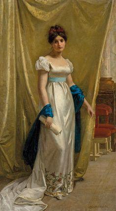 Marie Wilhelmina Wandscheer, Portret młodej damy