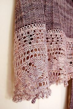 Gorgeous colours on this lace knit