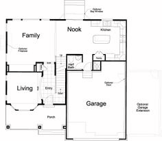 Napoli Ivory Homes Floor Plan - Main Level