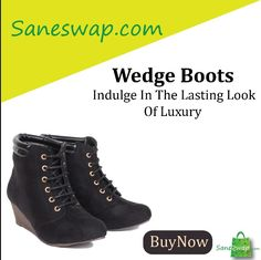 #saneswapit #boots #wedgeboots #shoes👠   Boots have always been in fashion, they never go out of style! Find a huge collection of boots for Men, Women, and Kids atwww.saneswap.com. Get good deals on premium quality material from reputed brands.