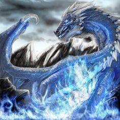 Ice Blue Water Dragon [Fantasy Art Addiction: www.facebook.com/Chinqwe]