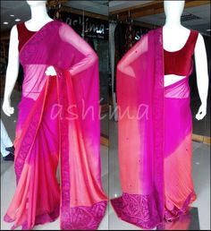 Code 2504153 Shaded Chiffon With Cut Work Free shipping to any courier destination in India Online payments through PayU - Message Saree Code, Email Id & Mobile number in our FB Inbox