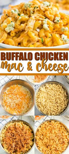 Macaroni and cheese gets a spicy makeover with this super delicious buffalo chicken mac and cheese. Tender noodles are combined with a creamy, cheesy sauce, chicken, and Frank's Red Hot Sauce for a he Buffalo Mac N Cheese Recipe, Spicy Mac And Cheese, Best Mac N Cheese Recipe, Macaroni Cheese Recipes, Mac And Cheese Homemade, Sausage Recipes, Turkey Recipes, Cooking Recipes, Baked Chicken Mac And Cheese Recipe