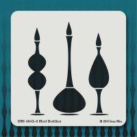 4043-8 Mod Bottles stencil