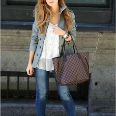 fashion handbags designer handbags replica handbags louis vuitton louis vuitton handbags is your best choice on this years new ideas for this su Replica Handbags, Lv Handbags, Louis Vuitton Handbags, Fashion Handbags, Designer Handbags, Casual Looks, Tote Bag, Outfits, Mango