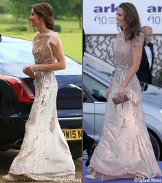 "WhatKateWore.com on Twitter: ""Kate Brings Back Blush Jenny Packham Gown for @EACH_hospices & @Each_Norfolk Fundraiser."
