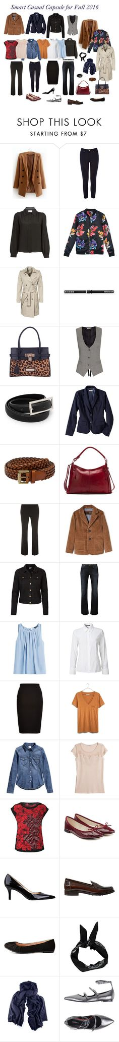 """Smart Casual Capsule for Fall 2016"" by meibaola ❤ liked on Polyvore featuring Oasis, RED Valentino, MICHAEL Michael Kors, Yves Saint Laurent, Lipsy, L'Agence, MANGO, Merona, Mulberry and Osgoode Marley"