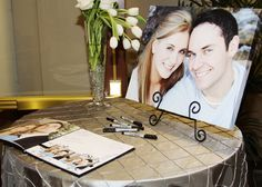 Wedding sign-in table, a photo frame of us would be just right :)