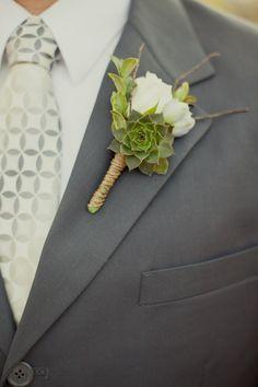 Succulent boutonniere, Succulents and Boutonnieres on Pinterest
